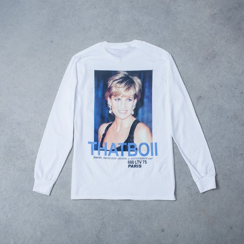 Image of FAN OF LONGSLEEVE - WHITE