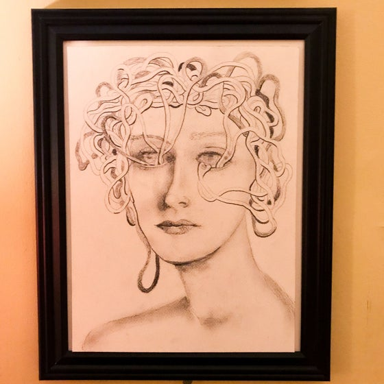 "Image of ""Aura""  9""x12"" Original Framed Pencil Drawing"