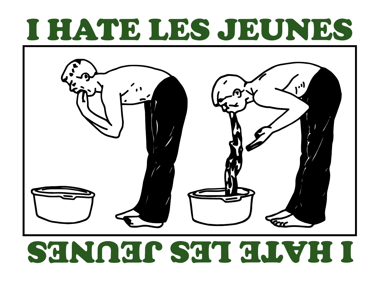 Image of I Hate Les Jeunes Tee