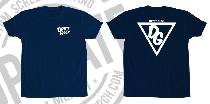 Image of Drift Geek Triangle Logo Tee (Heather Navy)