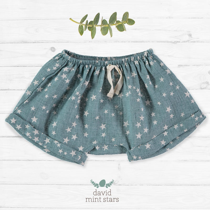 Image of Pantalon David Mint Stars