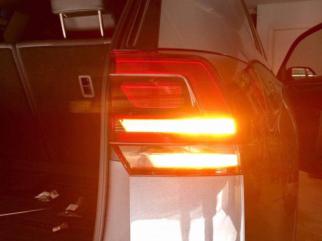 Image of Dark Amber Rear Turn Signals Fits: Volkswagen Atlas