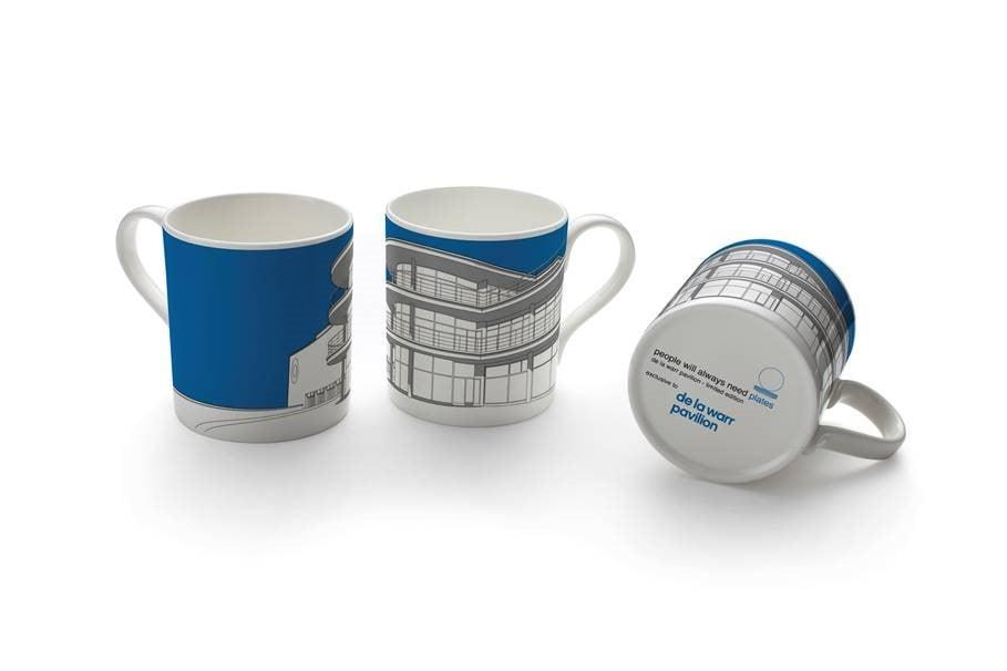 Image of De La Warr Pavilion Mug – Available in blue or yellow