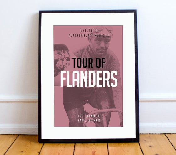 Image of Paul Deman at Tour of Flanders print - A4 & A3