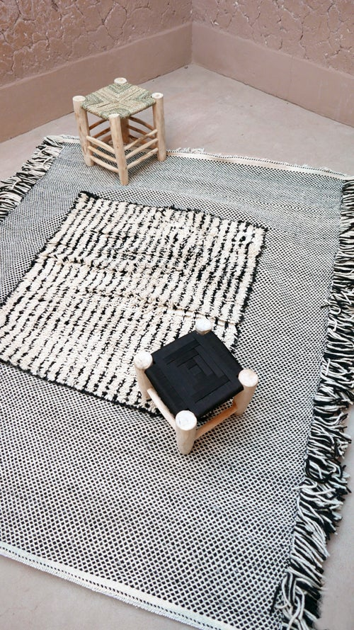 Image of Moroccan Rug - Flatweave and Knot #1