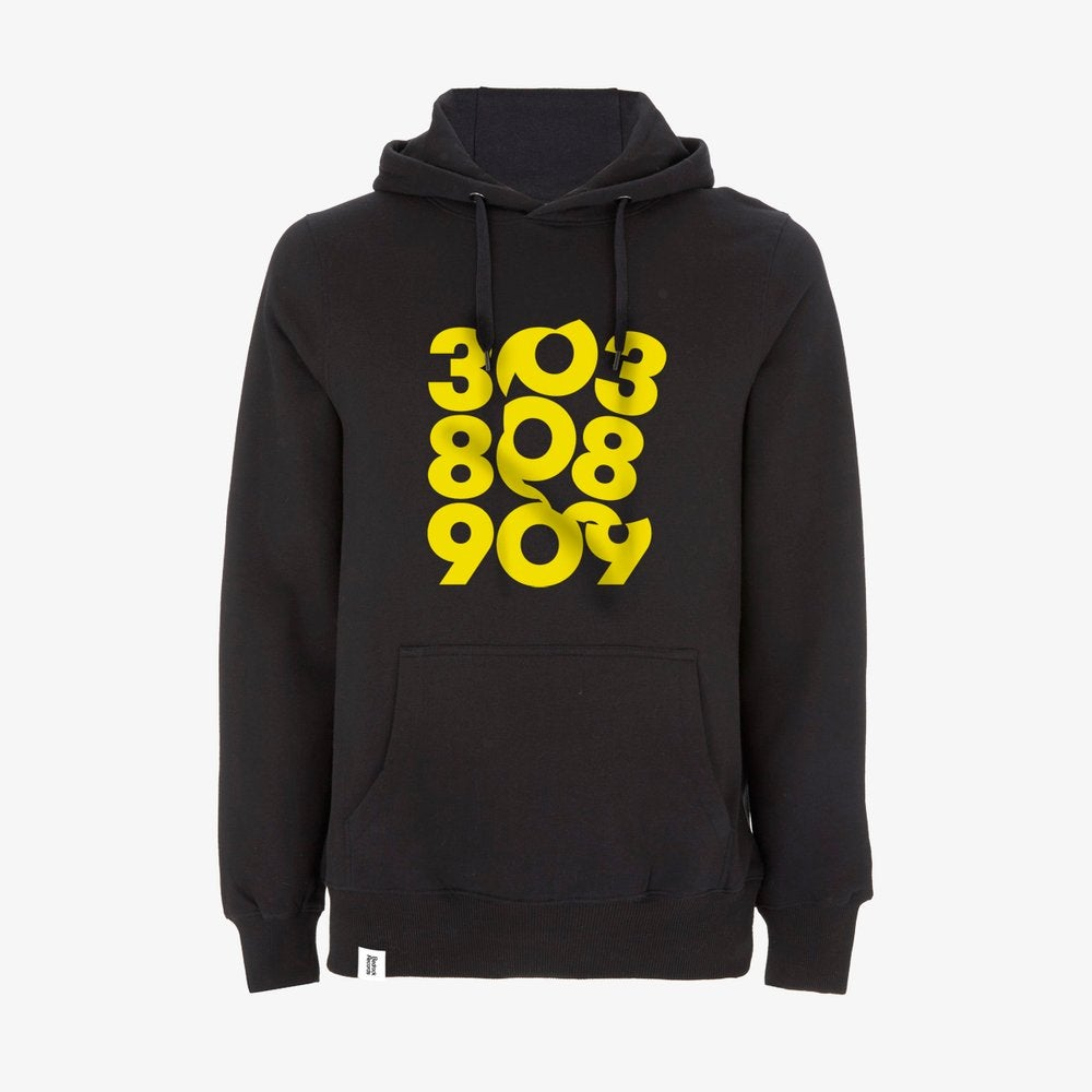 Image of SPIN 303:808:909 Pullover Hoody in Black