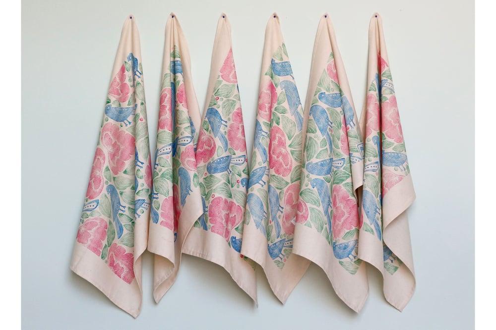 Image of Folk Art Limited Edition Cotton Tea-Towel