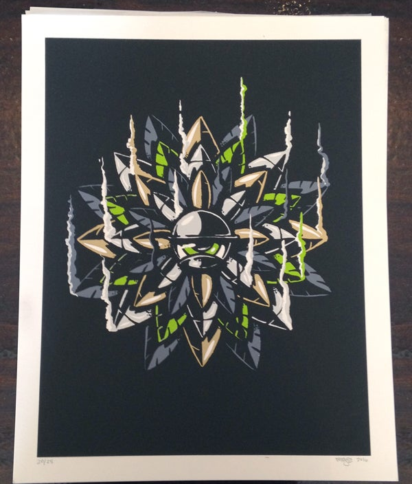 Image of Burn out - 5 color screen print