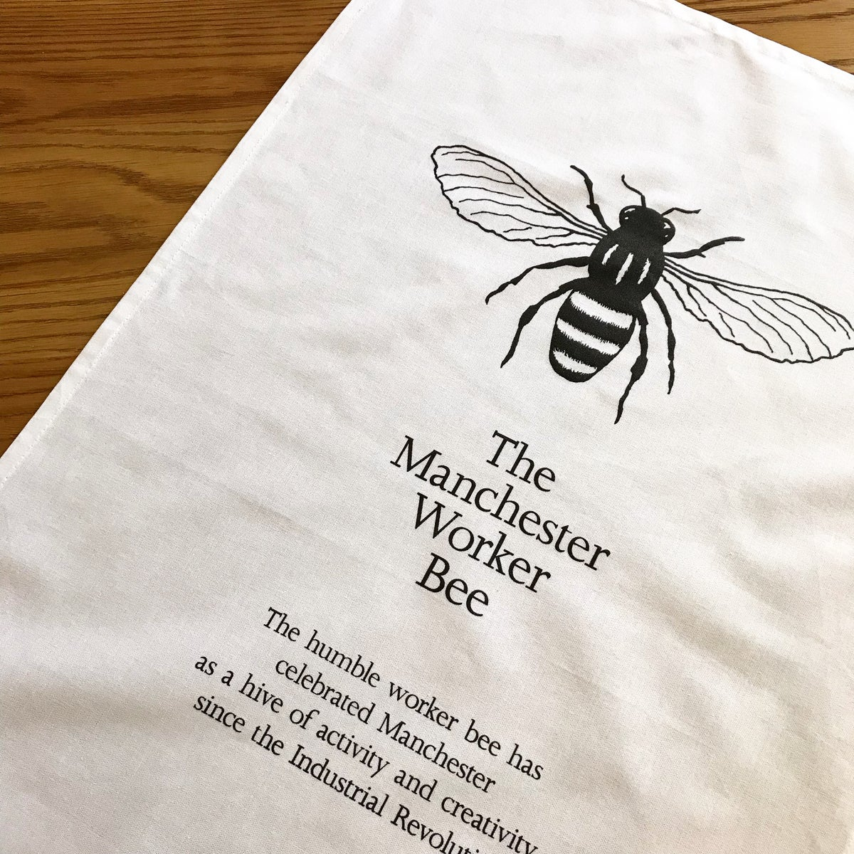 Image of MANCHESTER WORKER BEE TEA TOWEL