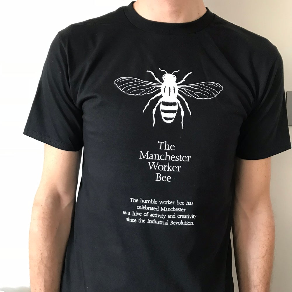 Image of MANCHESTER WORKER BEE TEE  - BLACK