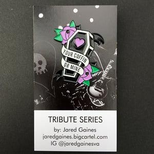 Image of Alkaline Trio Tribue Pin - Purple