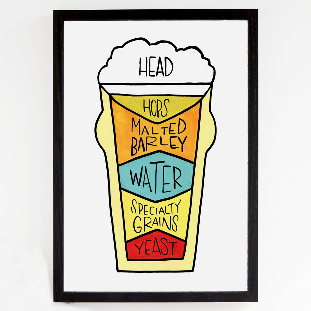 Image of Mid Century Beer Poster