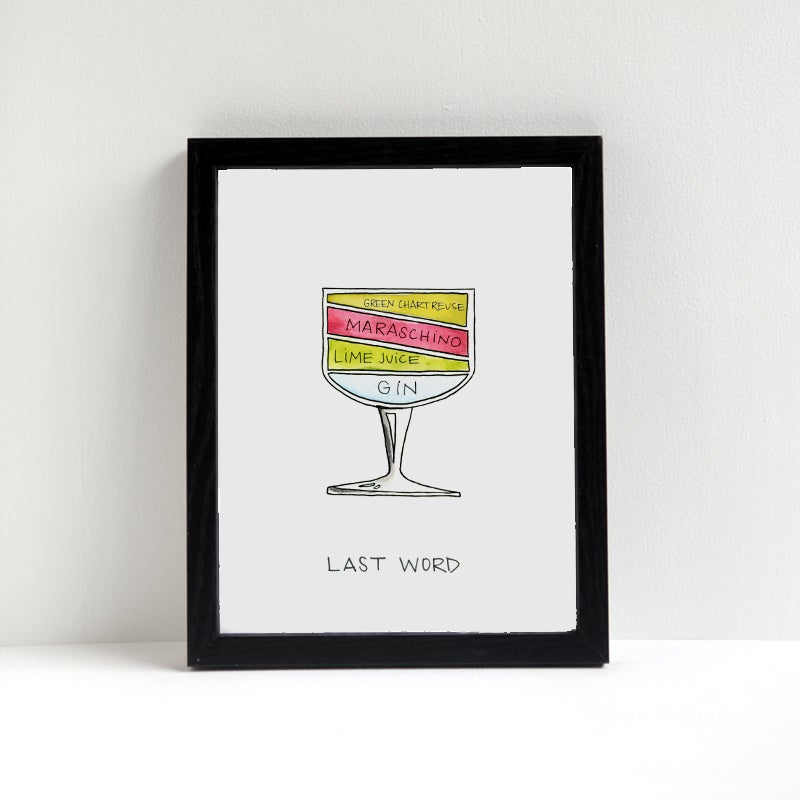 Image of Last Word Cocktail Diagram Print