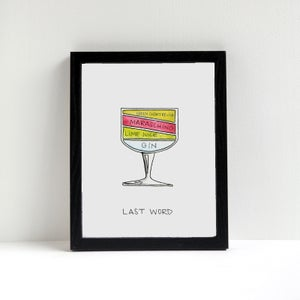 Last Word Cocktail Diagram Print by Alyson Thomas of Drywell Art. Available at shop.drywellart.com