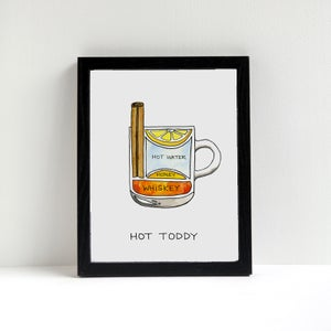 Hot Toddy Cocktail Diagram Print by Alyson Thomas of Drywell Art. Available at shop.drywellart.com