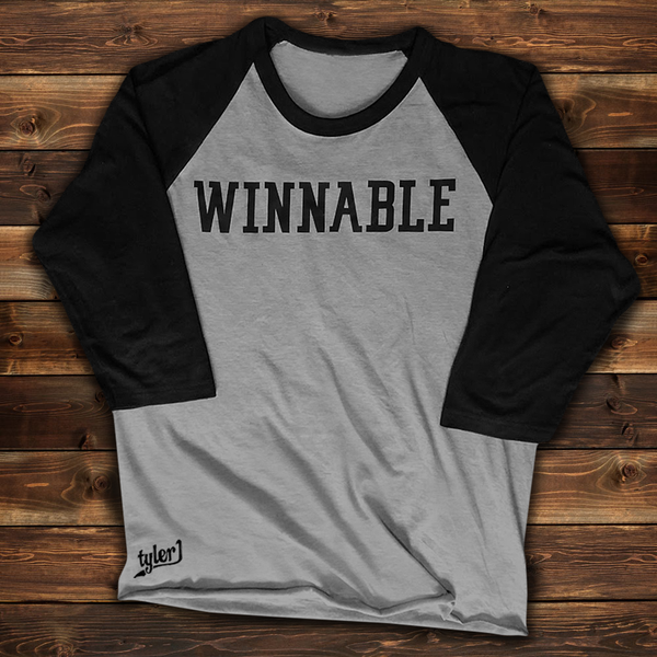 Image of Winnable Black|Gray Tee