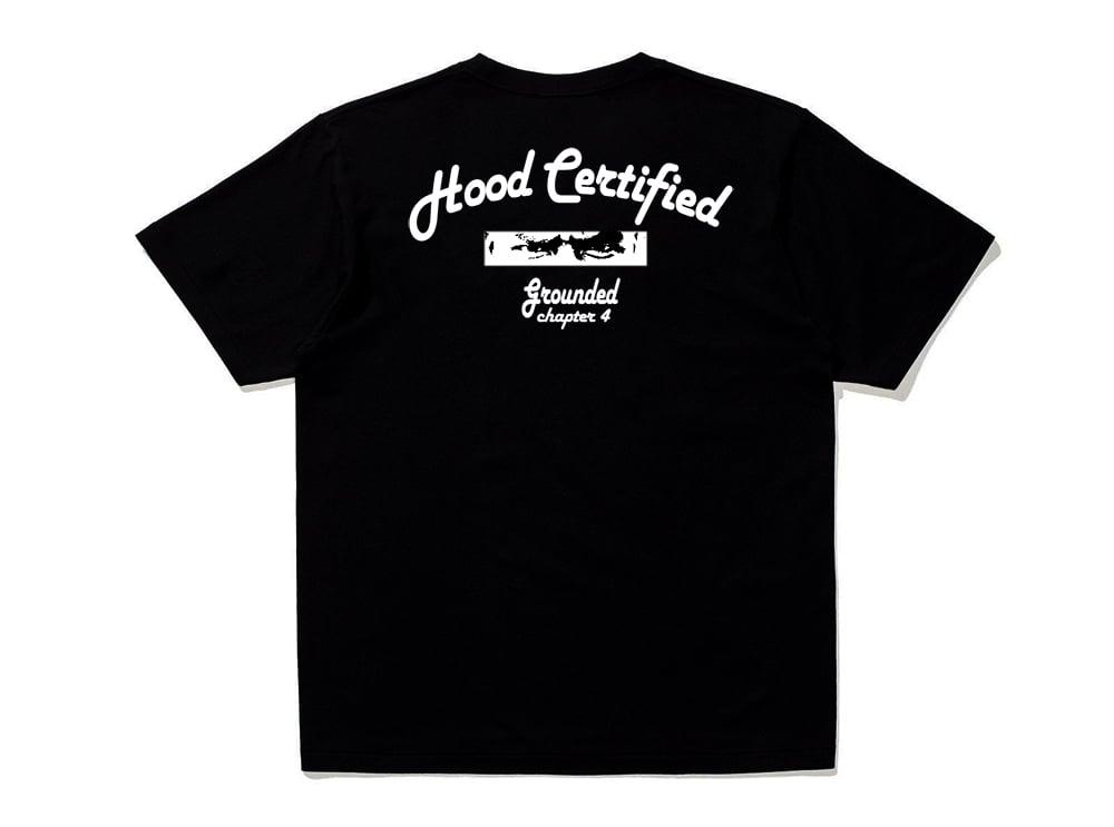 Image of Black Hood Certified T-Shirt