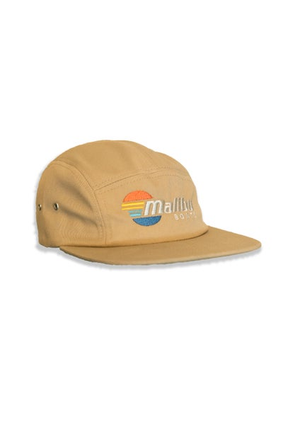 Image of Malibu Five Panel Cap - Black & Khaki