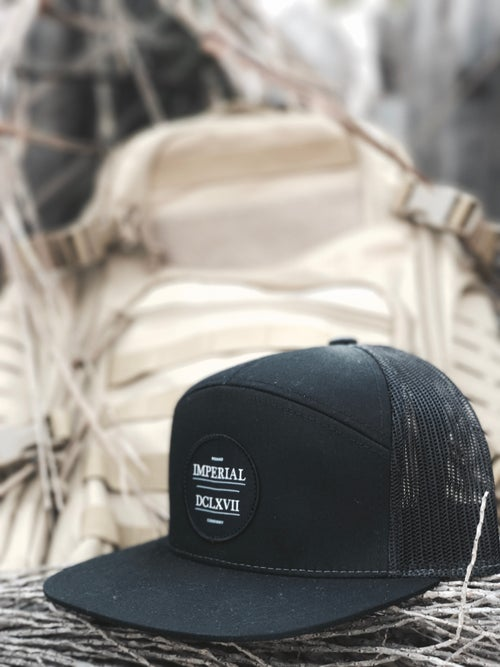 Image of IMPERIAL BLACK PREMIUM TRUCKER CAP