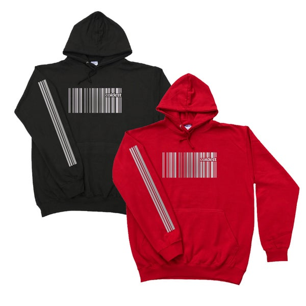 Image of REFLECTIVE BARCODE HOODIES