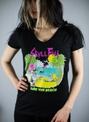 "Image of GIRLS ""ride the beach"" shirt LIMITED"