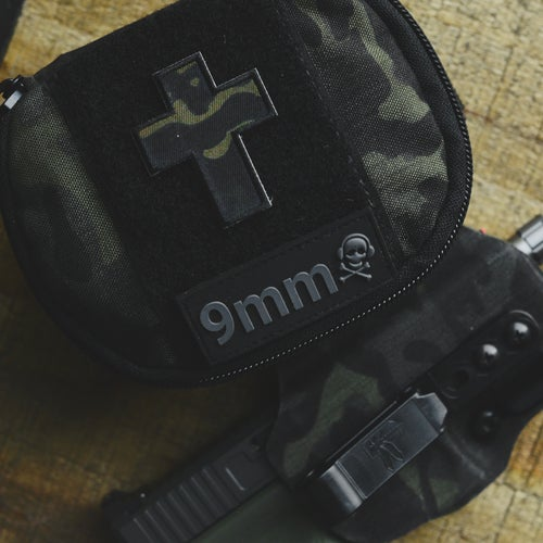 Image of Cross Series: Multicam Black Cross Fabric Patch