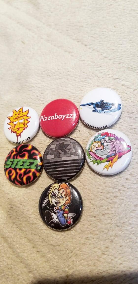 Image of Limited edition pack #4 of 24 half dozen button set + bonus button (feb.14-28series)