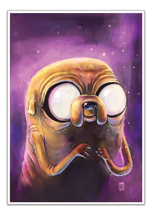 Image of Jake the Dog - A3 Poster Print