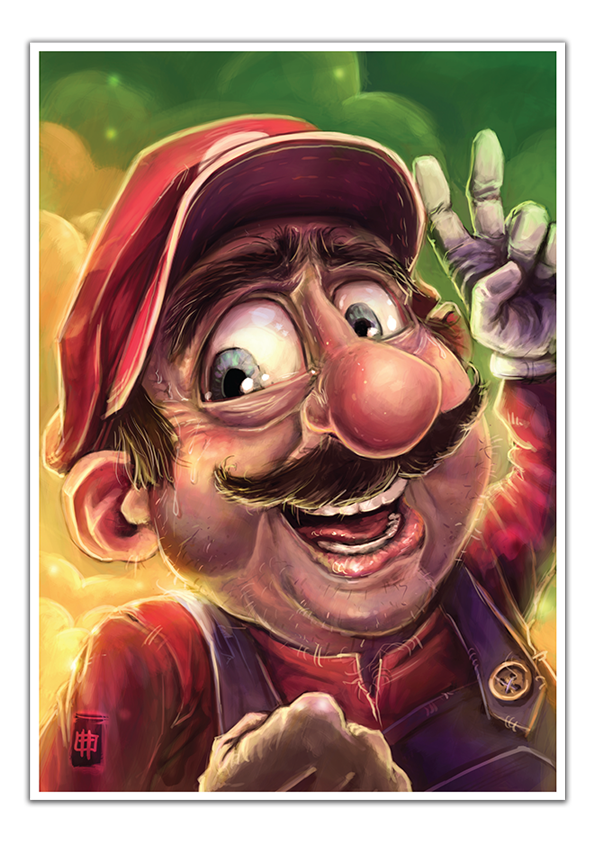 Image of Mario - A3 Poster Print