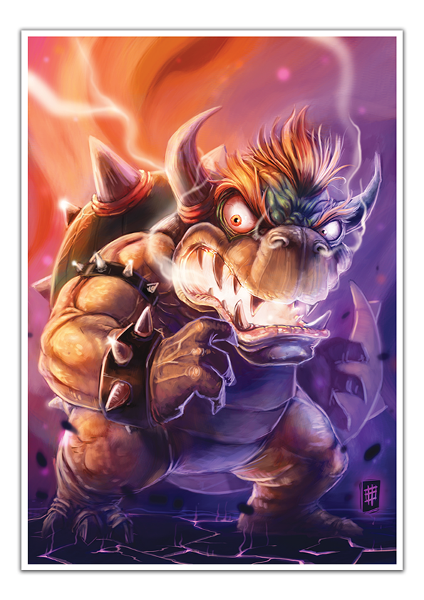 Image of Bowser - A3 Poster Print