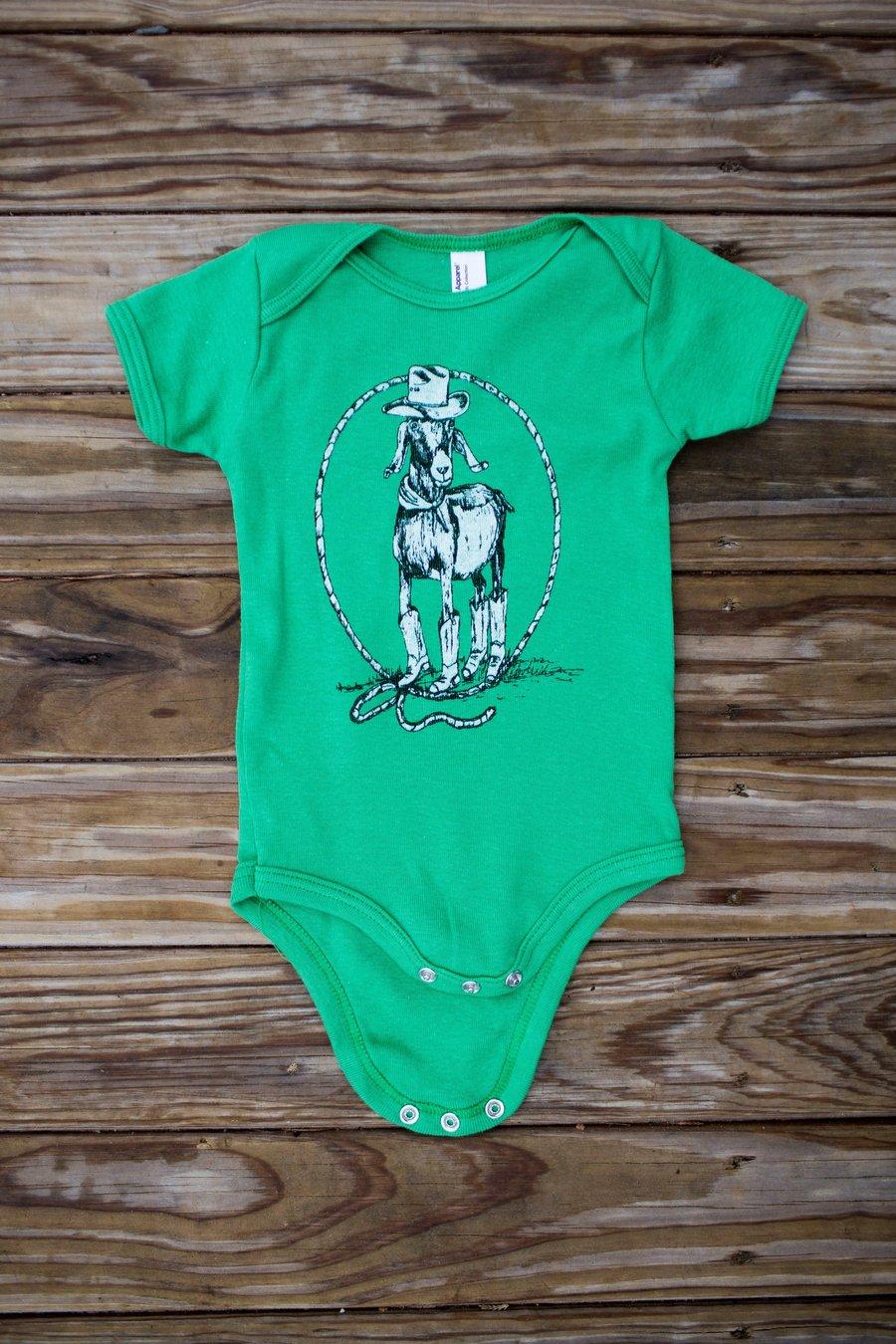 Image of Baby #GoatRoper Onesie