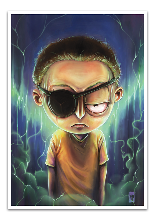 Image of Evil Morty - A3 Poster Print