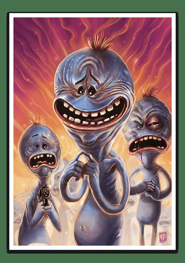 Image of Mr Meeseeks - A3 Poster Print