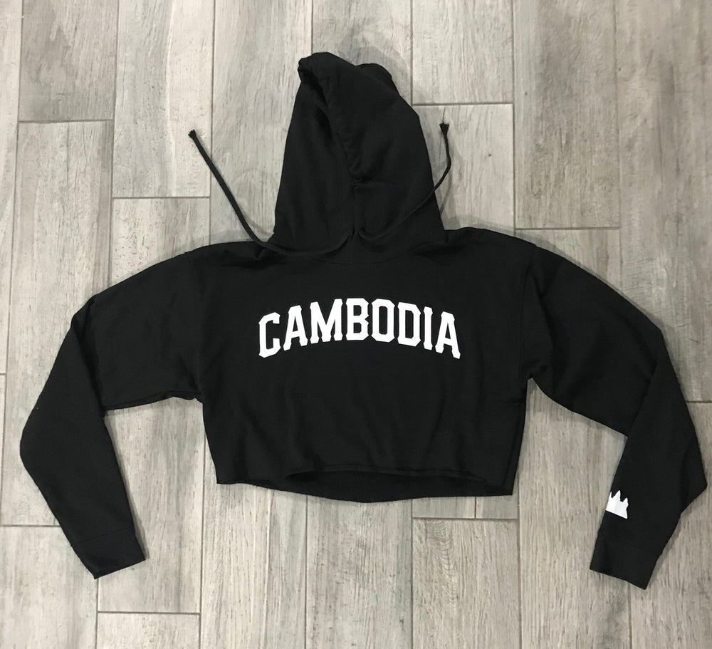 Image of Women Cambodia Cropped Hoodie