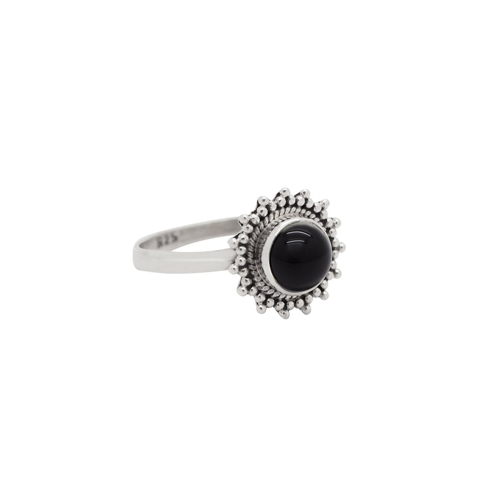 Image of Sterling Silver & Black Onyx Solstice Ring