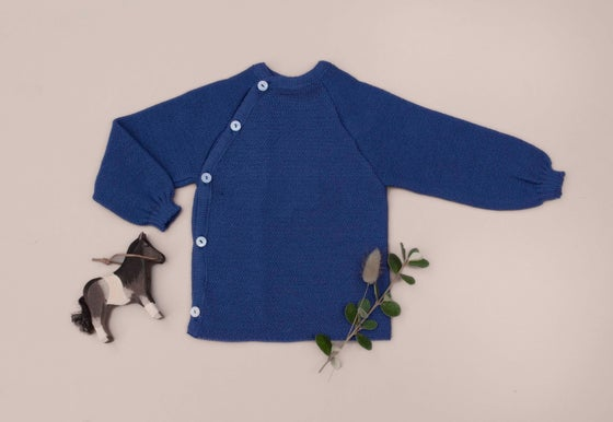 Image of Reiff organic merino wool sweater ocean