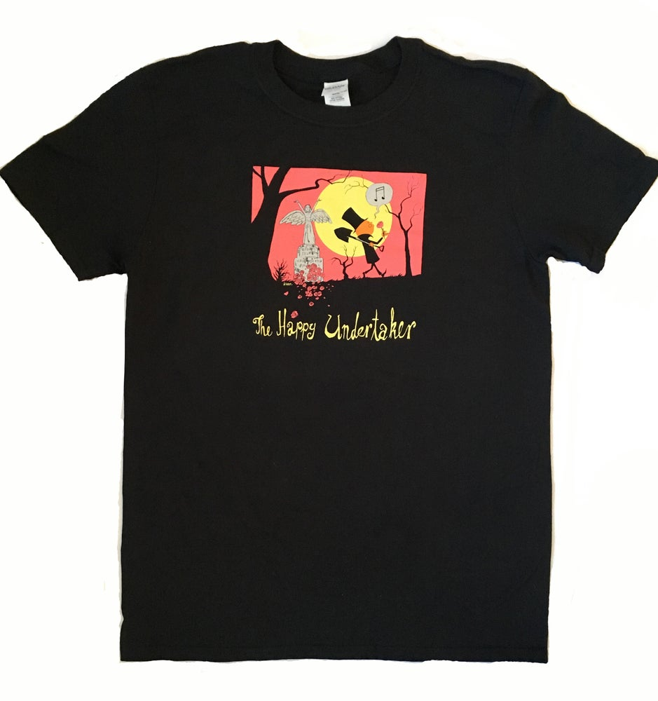 Image of THE HAPPY UNDERTAKER T-shirt 1