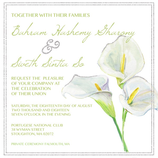Image of Calla Lily Wedding Invitation & RSVP