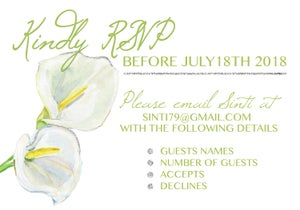 Image of Calla Lily Wedding Invitation & RSVP