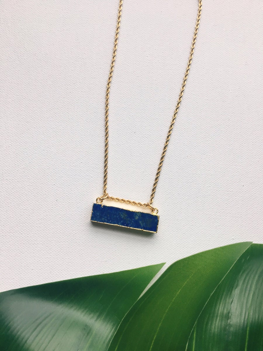 Image of BARZ XL • Lapis Lazuli Bar Necklace