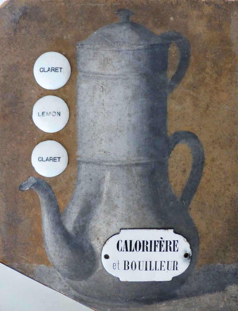 Image of Anciennes petites plaques pour distributeur d'eau de Sletz + calorifère