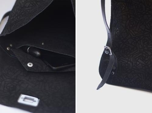 Image of Minimal Backpack in Black Suede