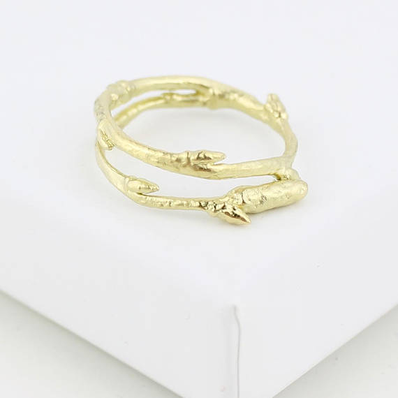 Image of 18CT GOLD ARCTIC TWIG RING