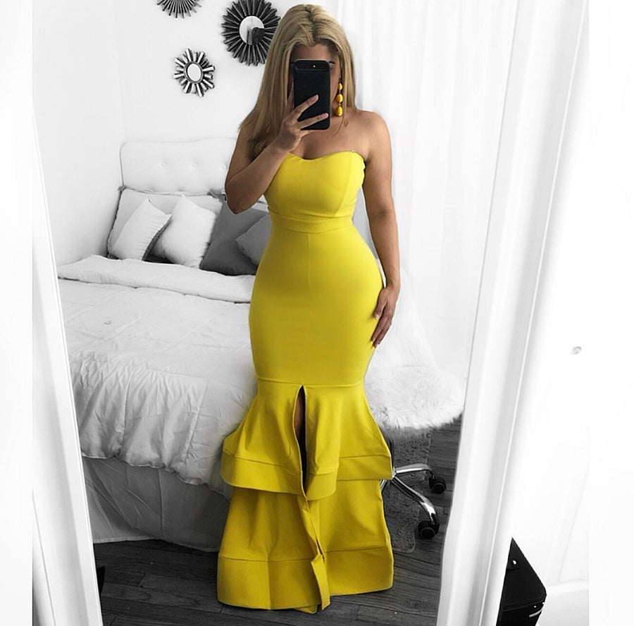 Image of Christina ruffle  gown