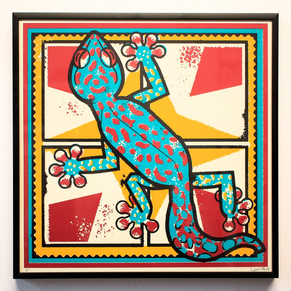 Image of Lewis Heriz // Gecko Screenprint