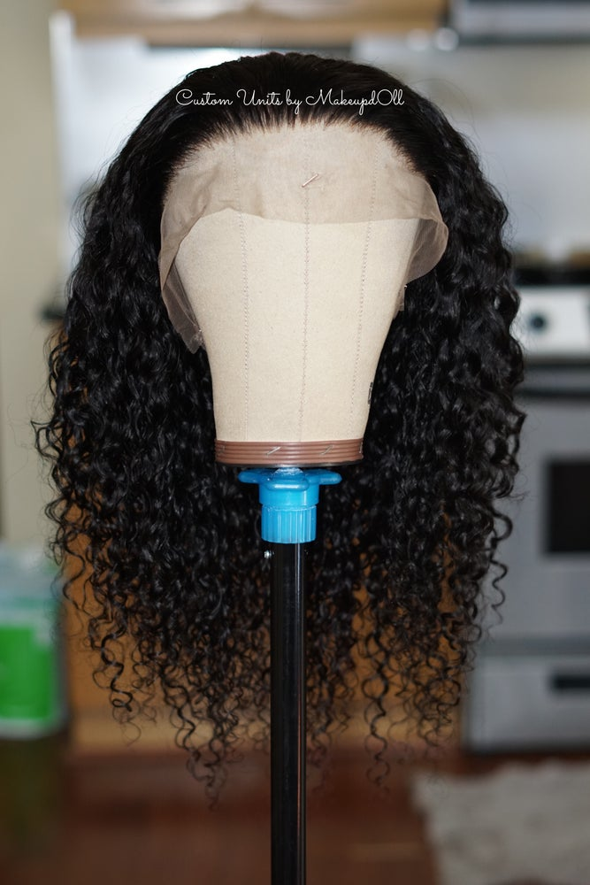 """Image of Indian Wavy/Curly 24"""" Custom 360 Lace Frontal Wig!"""