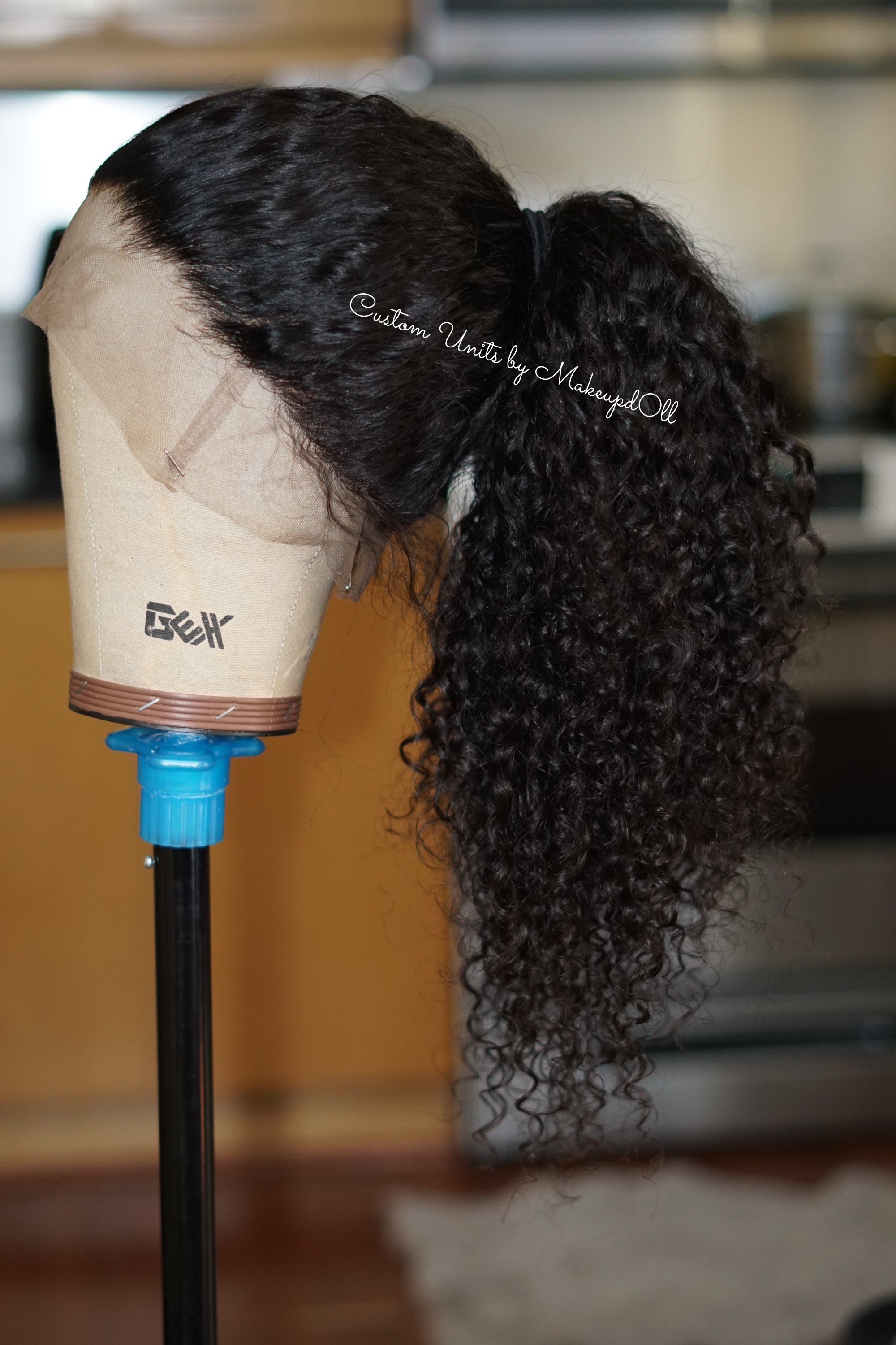 "Image of Indian Wavy/Curly 24"" Custom 360 Lace Frontal Wig!"