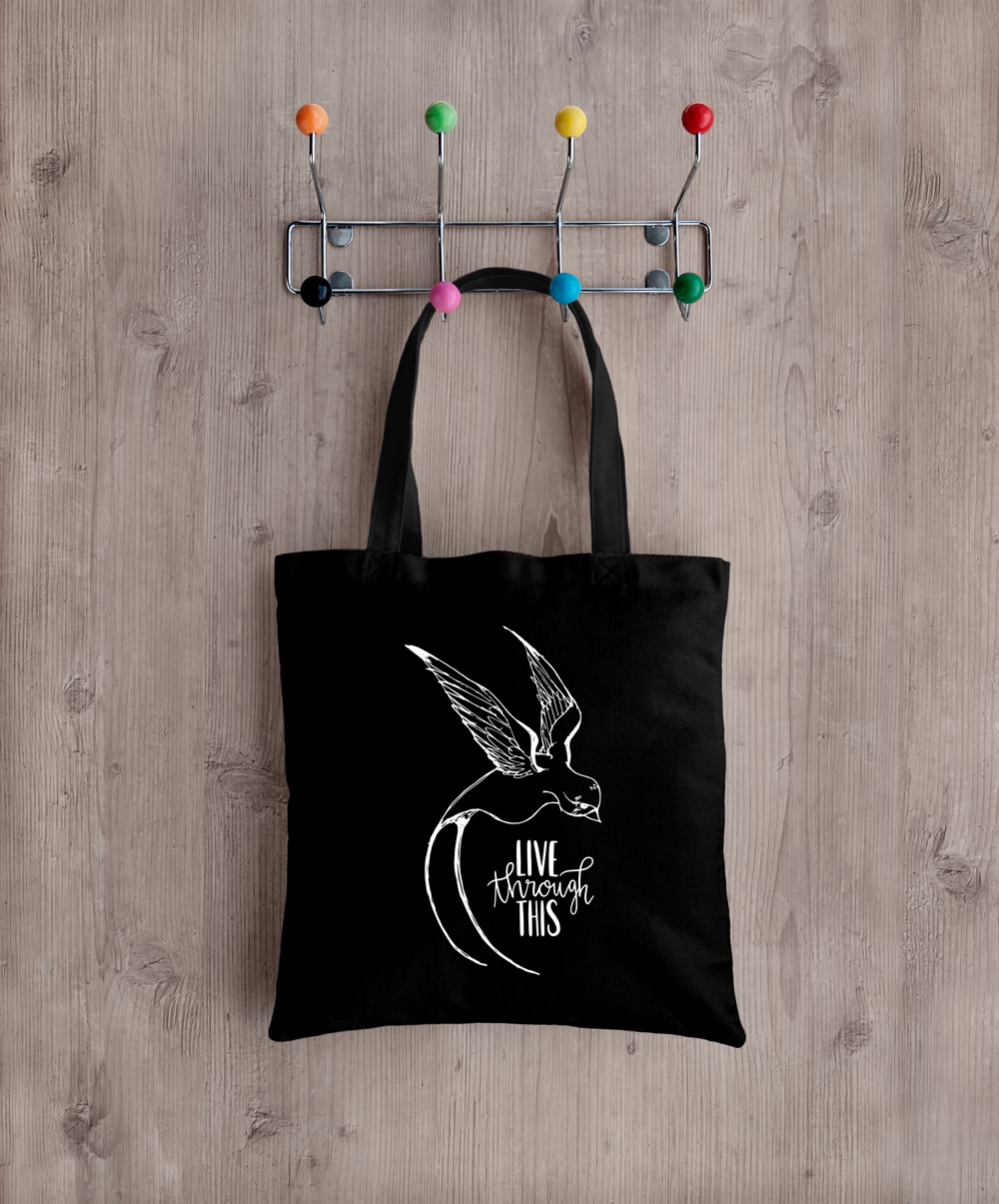 Image of Sketch Logo Tote - Black