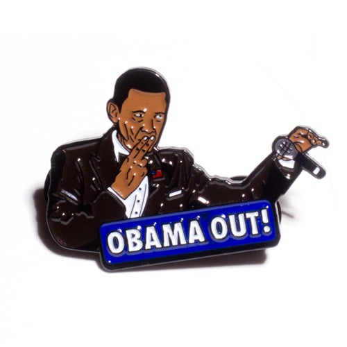 Image of Obama Out 1.5 inch Soft Enamel Pin