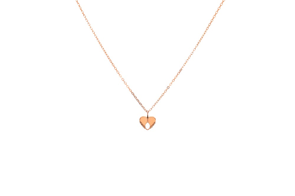 Image of Dainty Love Pendant - Rose